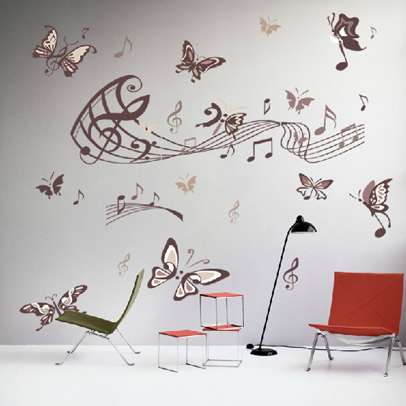 Buy hot sale butterfly music note wall for Home decor items on sale