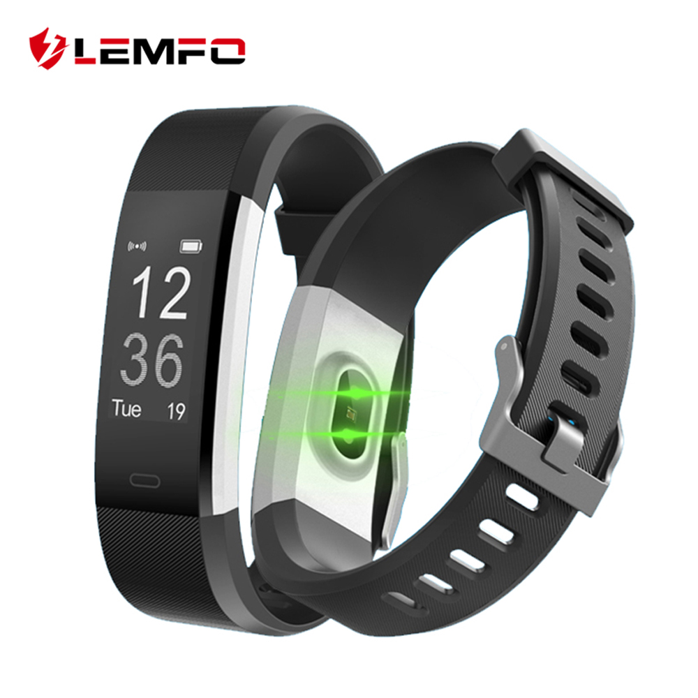 LEMFO ID115 HR Plus Smart Fitness Bracelet Sport Pedometer Heart Rate Monitor Wristband For Xiaomi Mi Band 2 Honor Band 3