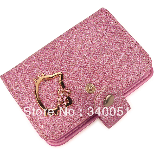 Hello Kitty Business ID Credit Card Holder women card holders (1 piece)+ Free Shipping