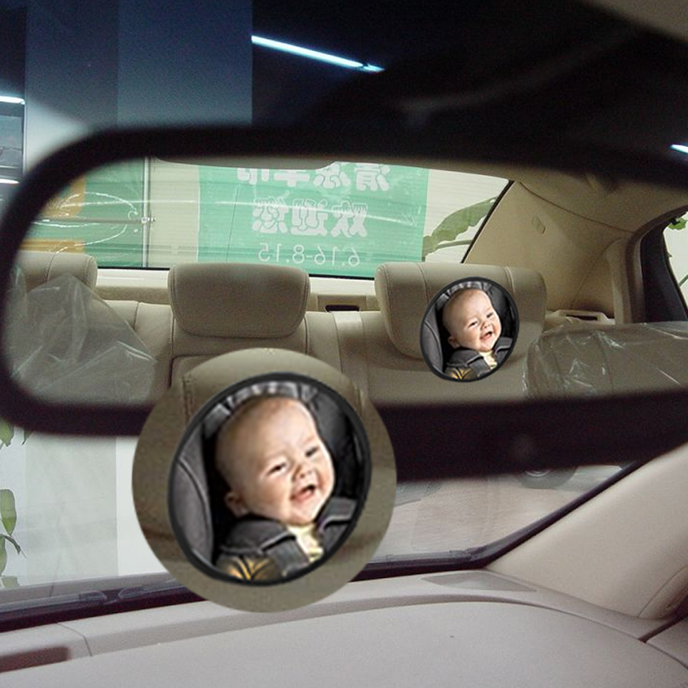 T20245 Car Style Large Adjustable Baby Child Safety Mirror Auto Car Rear Seat Headrest Mount Wide View for Cars