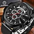 OCHSTIN Männer Quarzuhr Schwarz Große Zifferblatt Sport Wasserdichte Armbanduhren Uhr Geschenke Für Mann Business Uhren Relogio Masculino-in Quarz-Uhren aus Uhren bei