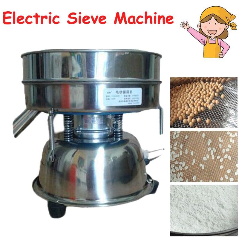 Électrique Tamis Machine Électrique Vibrant Machine pour Poudre Particules Tamis En Acier Inoxydable pour La Médecine Chinoise YCHH0301