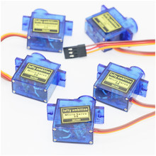 Free shipping !! 5pcs/10pcs/lot or New 9G Micro / Mini Servos + Horns For rc Helicoper Airplane better than SG90(China)