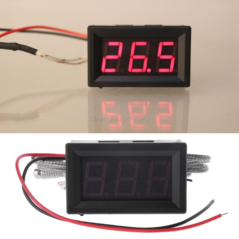 Thermometer K-type M6 Probe Thermocouple High Temperature Industrial Sensor Embedded Meter Tester Digital LED Display 0.5m CableThermometer K-type M6 Probe Thermocouple High Temperature Industrial Sensor Embedded Meter Tester Digital LED Display 0.5m Cable