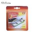 Giulietta Brand 8pcs/lot 100% Branded Stainless Steel Razor Blades For Men 3 Sharps Shaver GF-619LV