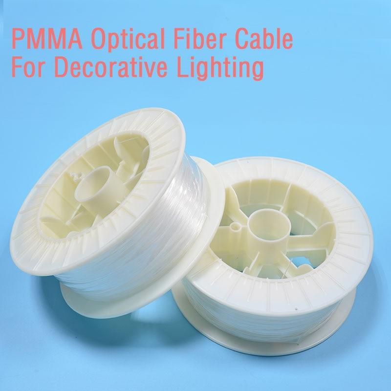 150M/roll 3.0mm Dia End Glow Optic Fiber PMMA Plastic Optical Fiber For LED Engine Optic Fiber Light Starry Sky Car Decoration