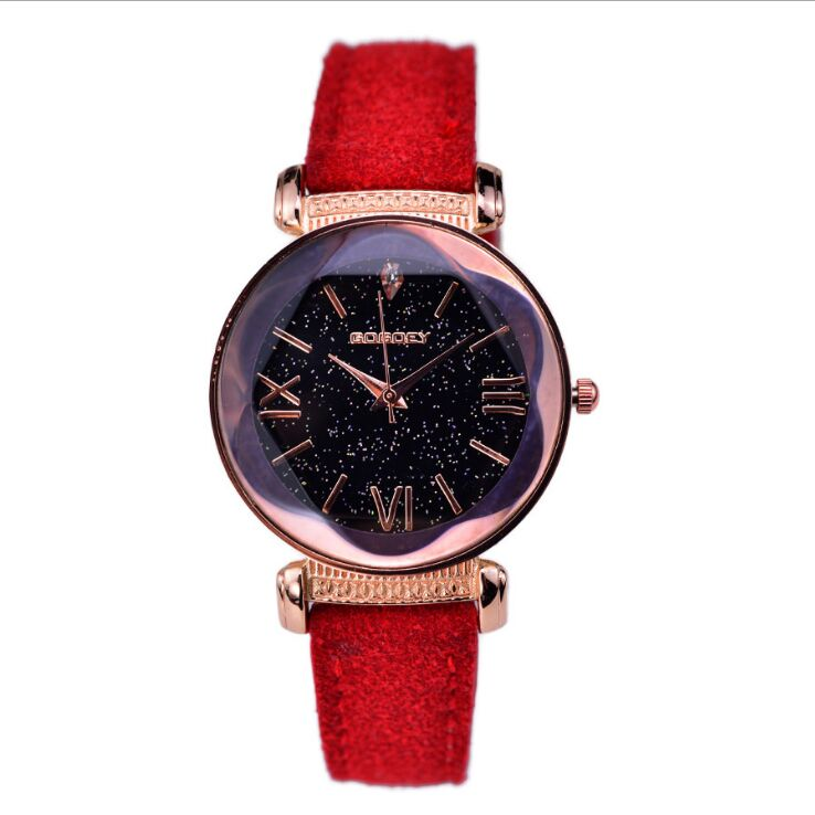 Women Rose Gold Leather Watches  3