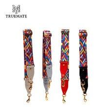 TRUEMATE C333 Baumwolle Gurtband Bunte Umhängetasche Straps Frauen Handtasche Lange Einstellbare Braid Strap Für Tasche