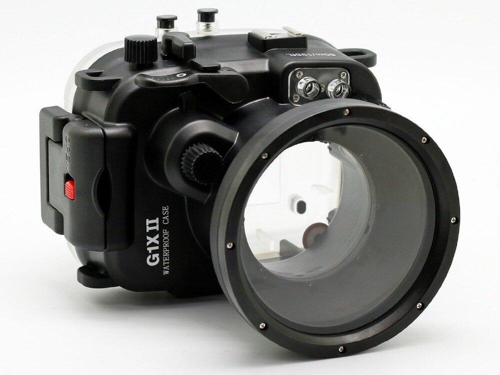 Pour Canon G1X II Powershot Meikon 40 m/130ft boîtier étanche pour appareil photo sous-marin G1X Mark II