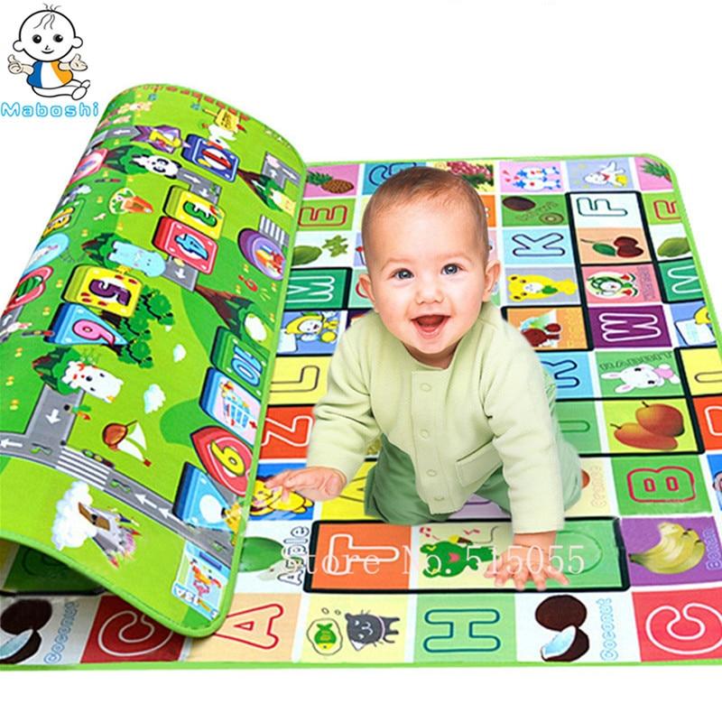 """""""Maboshi Quality Kids"""" žaisti """"Mat Meter Fruit Zillionaire"""" žaidimą Vaikai Paplūdimio kilimėlis Eva putos kilimų kilimėlis Baby Crawling Mat Baby Toy"""