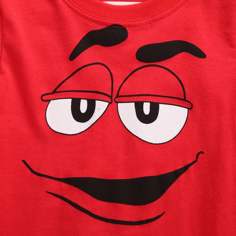 2020 Kids Boys Cartoon Chocolate Little Men Letter M Cotton T-Shirt Summer Short Sleeve Tee Shirt Children
