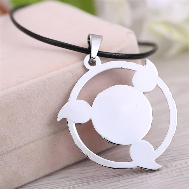 Naruto Saringan Necklace Round Eyes Wheels Red