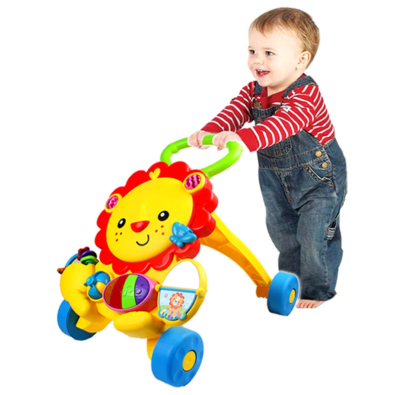 Baby walker multi-function trolley rollover science Walker baby toys with music