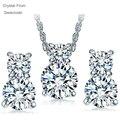 Conjunto de joyas de Oro de cristal De Swarovski Joyería Nupcial Wedding Sets de Lágrimas Gota Sistemas de la joyería Para Las Mujeres