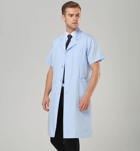 Maniche Medico Bianco Bella Camice Uniformi Corte Estate Dell'uomo mnwOvN80
