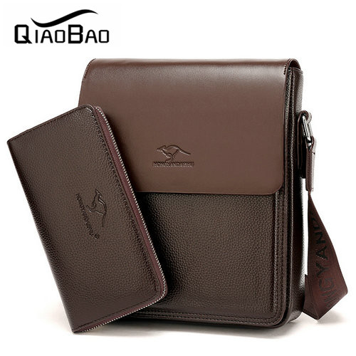 (With a Wallet) Hot Sell Men Bag Casual Business Leather Bag Brand Design Mens Messenger Bag Mens Crossbody Bag bolsas male