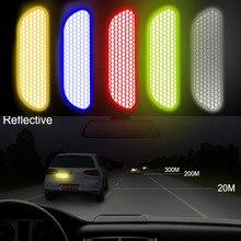LEEPEE Автомобильная дверь колеса наклейка на козырек кузова наклейка безопасности знак светоотражающие полосы Предупреждение ющая лента автомобильные отражающие наклейки 4 шт./компл