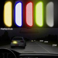 LEEPEE Автомобильная дверь колеса стикер для бровей Наклейка знак безопасности светоотражающие полосы Предупреждающие ленты автомобильные о...