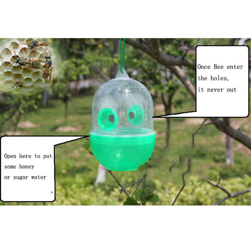HTB1SWBZKeySBuNjy1zdq6xPxFXaY - Bee Trapper Pest Repeller Insect Killer Pest Reject Insects Flies Hornet Trap Catcher Hanging On Tree Garden Tools