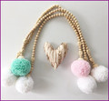 Furniture Stroller Accessories For home room decoration wooden beads Hairball tent photography props Birthday Gift