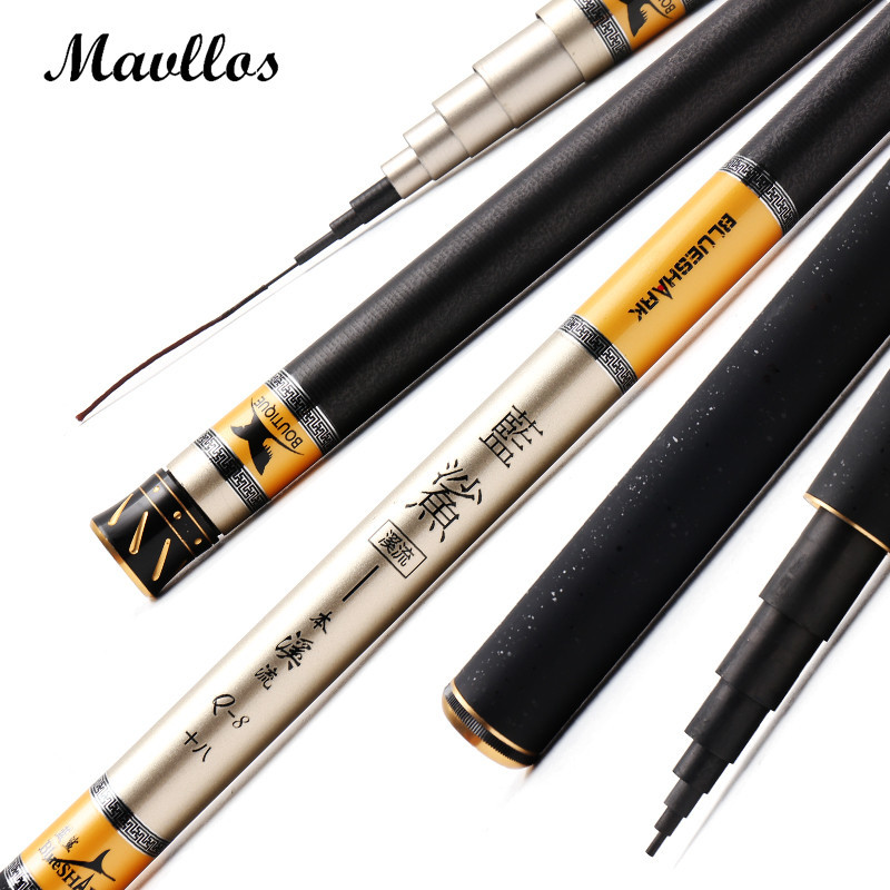 Mavllos High Quality Carbon Fiber Telescopic Rod 3.6-7.2m Superhard Stream Rod Ultra light Carp Fishing Pole Tackle Wholesale goture carbon fiber telescopic fishing rod 8m 9m 10m 11m 12m long ultra hard hand stream pole for carp fishing accessories