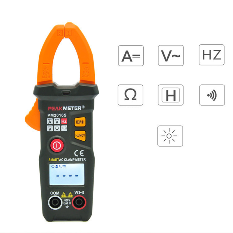 Digital Clamp Meter PM2016s Portable True RMS NCV Mini Multimeter  AC/DC Voltage Voltmeter Current Multimeter ToolsDigital Clamp Meter PM2016s Portable True RMS NCV Mini Multimeter  AC/DC Voltage Voltmeter Current Multimeter Tools