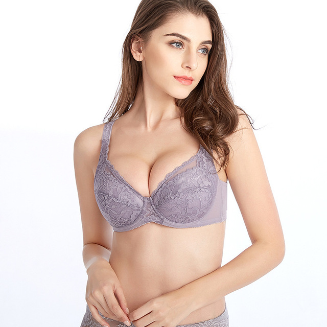 8f9fe13da4 34 36 38 40 42 44 46 48C D DD DDD E F cup sexy bra lace push up women  underwear cotton refreshing bras France lingerie for women