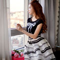 Original 2016 Brand Cotton Top Black Summer Short-Sleeved Slim Classic Fashion Comfortable Tshirt women Lady Clothing Wholesale