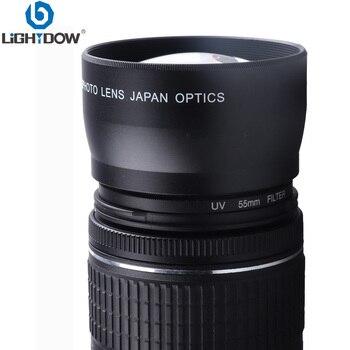 Lightdow-lente de cámara de 55mm 2.0x para Sony Alpha A77 A280 A290...