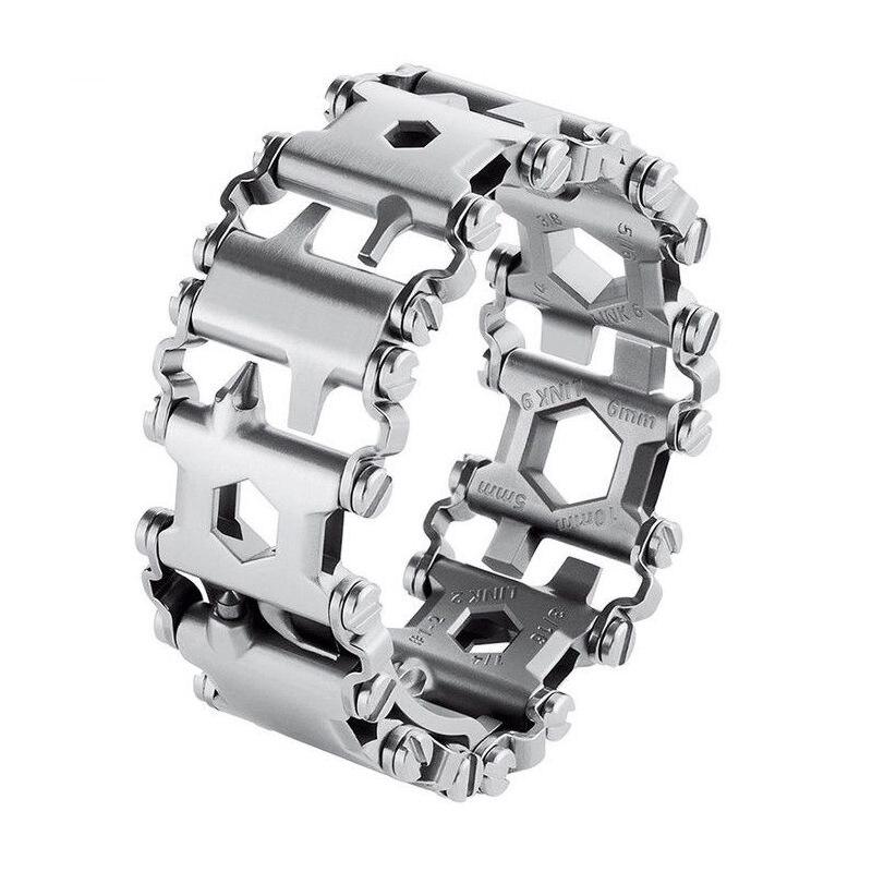 New Creative 29inch Multifunction Bracelet Wristband Screwdriver Bottle lightweight wrist Outdoor Survival Emergency Tool parts