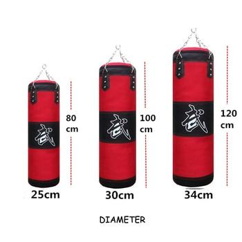 120 cm אימון כושר MMA אגרוף שק חבטות ריק ספורט בעיטת שק חול Muay תאילנדי בוקסר אימון סט כורכת & וו & זוג כפפות