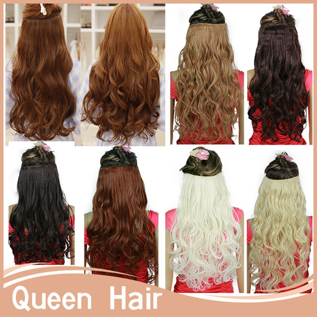 50pcslot Curly Clip In Hair Extensions 5 Clips 20inch 50cm Japanese