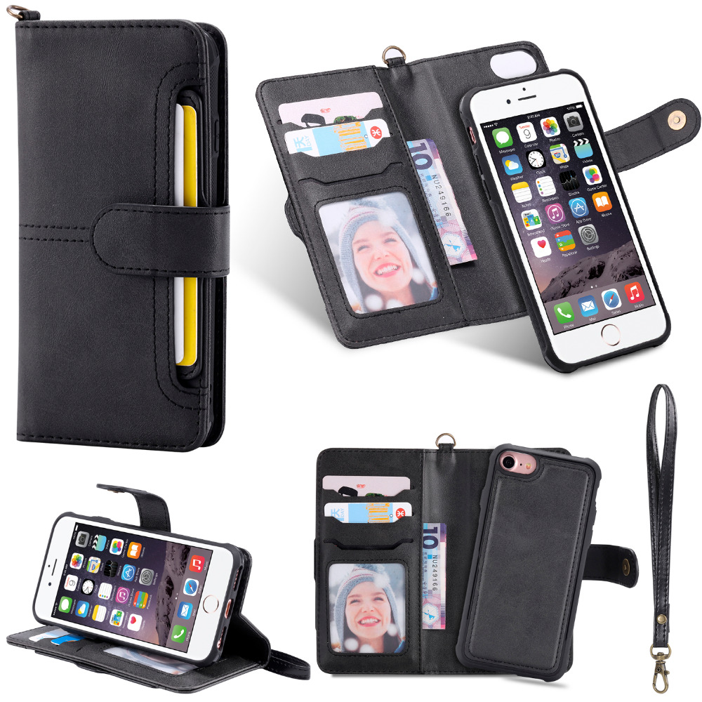 UTOPER Wallet Case For iPhone 7 Case PU Leather Flip Cover For iPhone 8 Coque For iPhone 6 Fundas For iPhone 6 7 8 Case Silicone