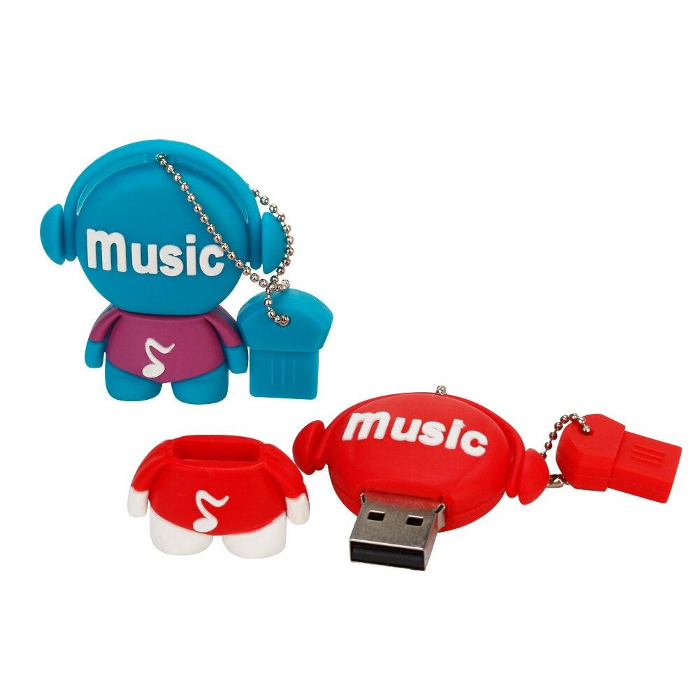 Персональный подарок с мультипликационным музыкальным персонажем, большая емкость, usb флеш накопитель, 4 ГБ, 8 ГБ, 16 ГБ, 32 ГБ, 64 ГБ, u диск, флеш накопитель-in USB флэш-накопители from Компьютер и офис