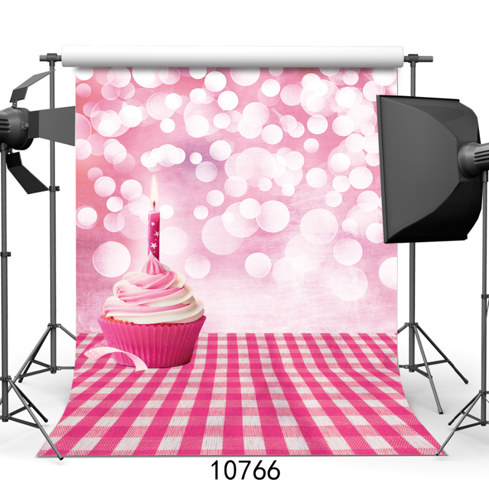 Photography Backdrops Prop Pink Bokeh Wall Cake Birthday Party Fabric Cloth Photo Studio Backgrounds for Children Baby photocall ashanks photography backdrops 10ft x 13ft fabric cloth chromakey backgrounds porta retrato for dslr photo studio
