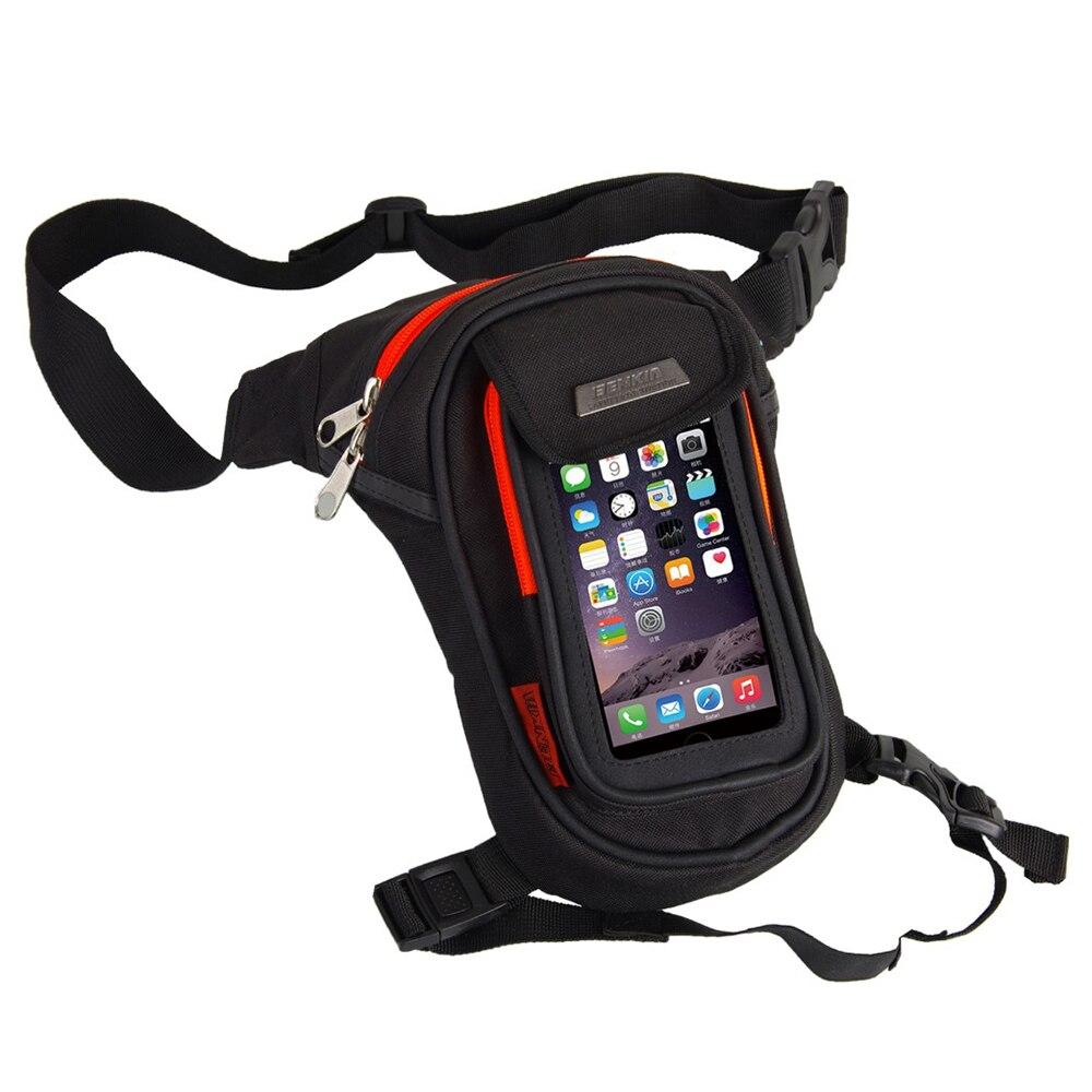 BENKIA moto sacs jambe sac cuisse goutte équitation taille sacs ceinture réfléchissant voyage Fanny Pack sac à main téléphone portable écran tactile Pack