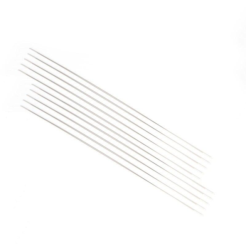 2018 10 шт. 125×0,6 мм Большой Глаз Изогнутые Иглы для бус для DIY браслет Цепочки и ожерелья нанизывая A14_20
