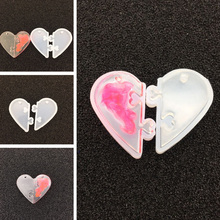 Heart To Silicone Mould  Love Locks For Lovers Pendant Liquid Mold Diy Resin Jewelry