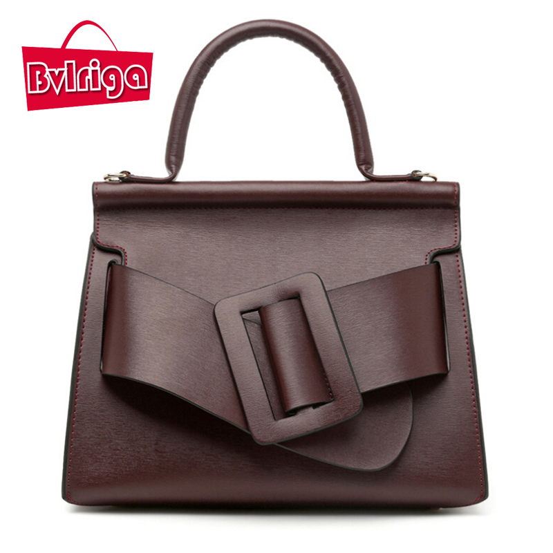BVLRIGA Genuine Leather Bag Women Handbags Luxury Designer Bags Handbags Women B