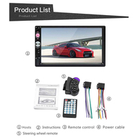 MP5 2 Din Car Multimedia Audio Player MP3 Stereo Radio 7 inch Touch Screen HD Support Bluetooth Camera FM/USB/ SD/Aux