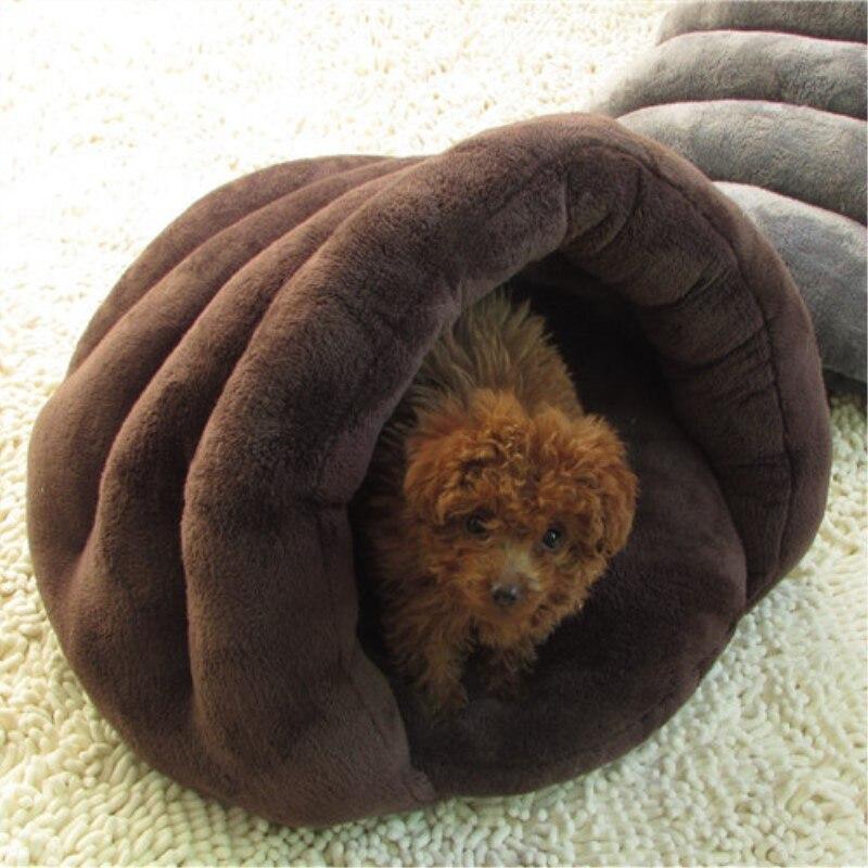 2018 Nieuwe Kat Hond Bed Twee Kleuren Slaapzak Korte Pluche Bed Nest Hoge Kwaliteit Little Pet Kat Hond Huis Kennel Huisdieren Producten