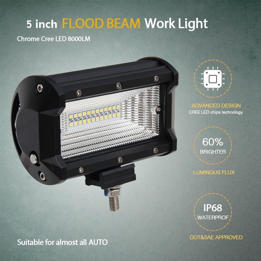 CO LIGHT 1 ζεύγος οδήγησε φως εργασίας 12V 5 - Φώτα αυτοκινήτων - Φωτογραφία 4