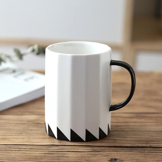 16oz Ceramic Tea Cup Large White Coffee Mug Cool Personalized Mugs With Handle Porcelain