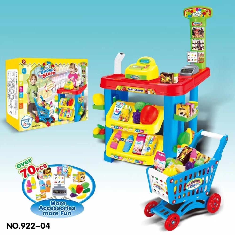 все цены на Mini Children's Supermarket Pretend Play Cash Register Shopping game Store Toys Set Gift For Kids girls boy shipping from Russia онлайн