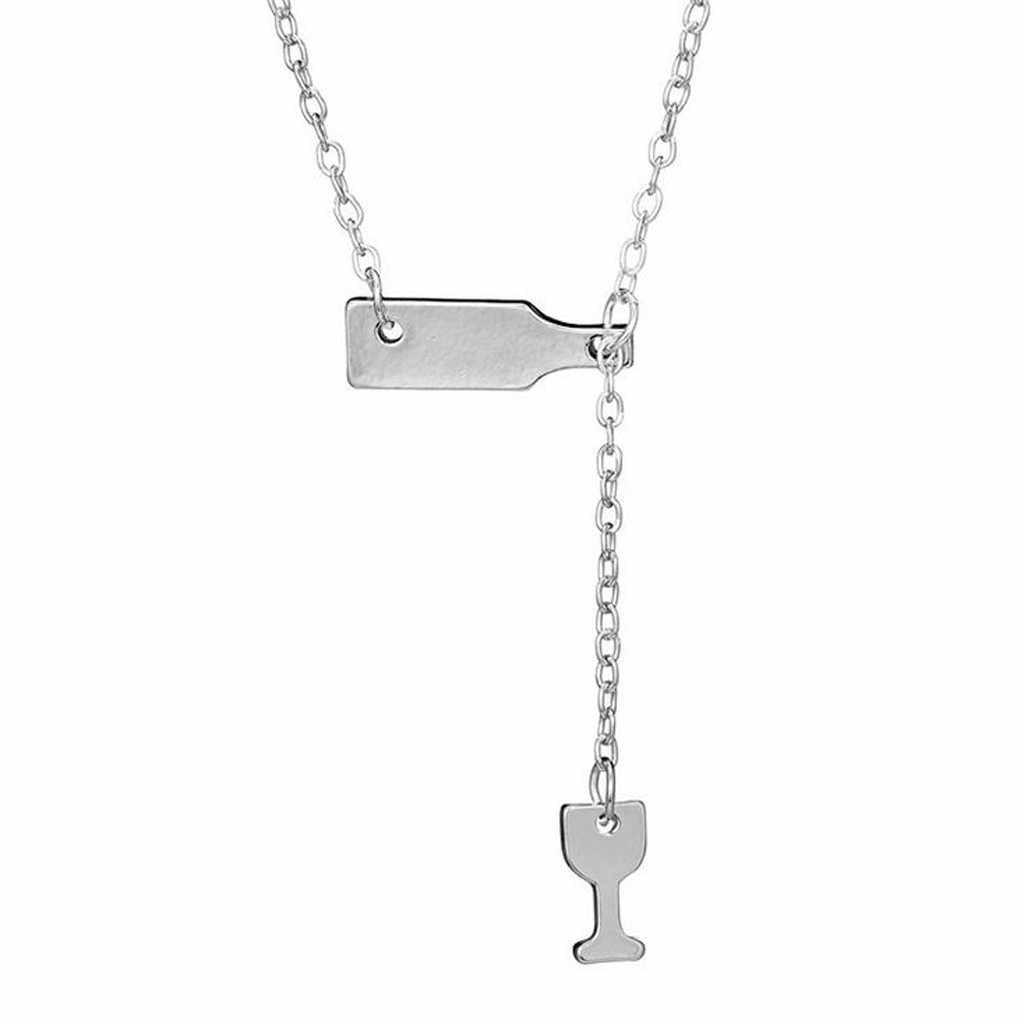 Moda feminina pingente colar moda amante do vinho de alta qualidade kolye senhora jóias gargantilha corrente boho menina colares de moda l0423