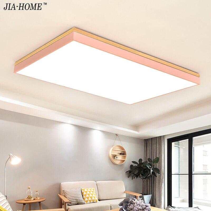 Luces De Techo Led De Madera Para Sala De Estar Dormitorio Balcon - Lamparas-de-techo-en-madera