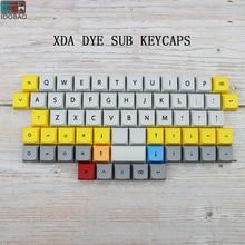 цена IDOBAO 40 Mechanical Keyboard Xda Keycaps Profile Dye Sub PBT 64 Keys For Cherry Mx Mini 60% Keyboard Kit Gamer keypad онлайн в 2017 году