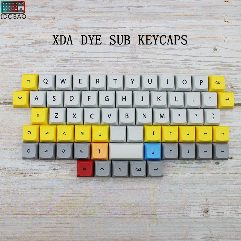 IDOBAO 40 Mechanical <font><b>Keyboard</b></font> Xda <font><b>Keycaps</b></font> Profile Dye Sub PBT 64 Keys For Cherry Mx Mini <font><b>60</b></font>% <font><b>Keyboard</b></font> Kit Gamer keypad image