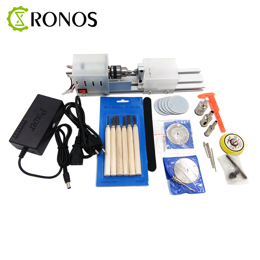 Mini DIY Wood Lathe Machine DIY Woodworking Lathe Polishing Cutting Drill Rotary Tool Standard Set Bench Drill 2 2mm cnc pcb drill kit tools router timothy dremel ladder micro engraving machine hand drill metal cutting machine accessorie
