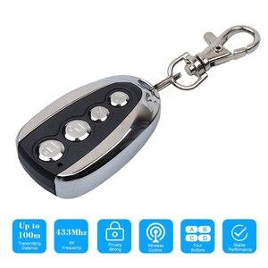 Image 3 - Kebidu Mini elektrikli 4 düğme 433Mhz araba Rolling kod uzaktan teksir garaj kapı uzaktan kumandası açacağı elektrikli ev için